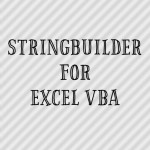 StringBuilder For Excel VBA